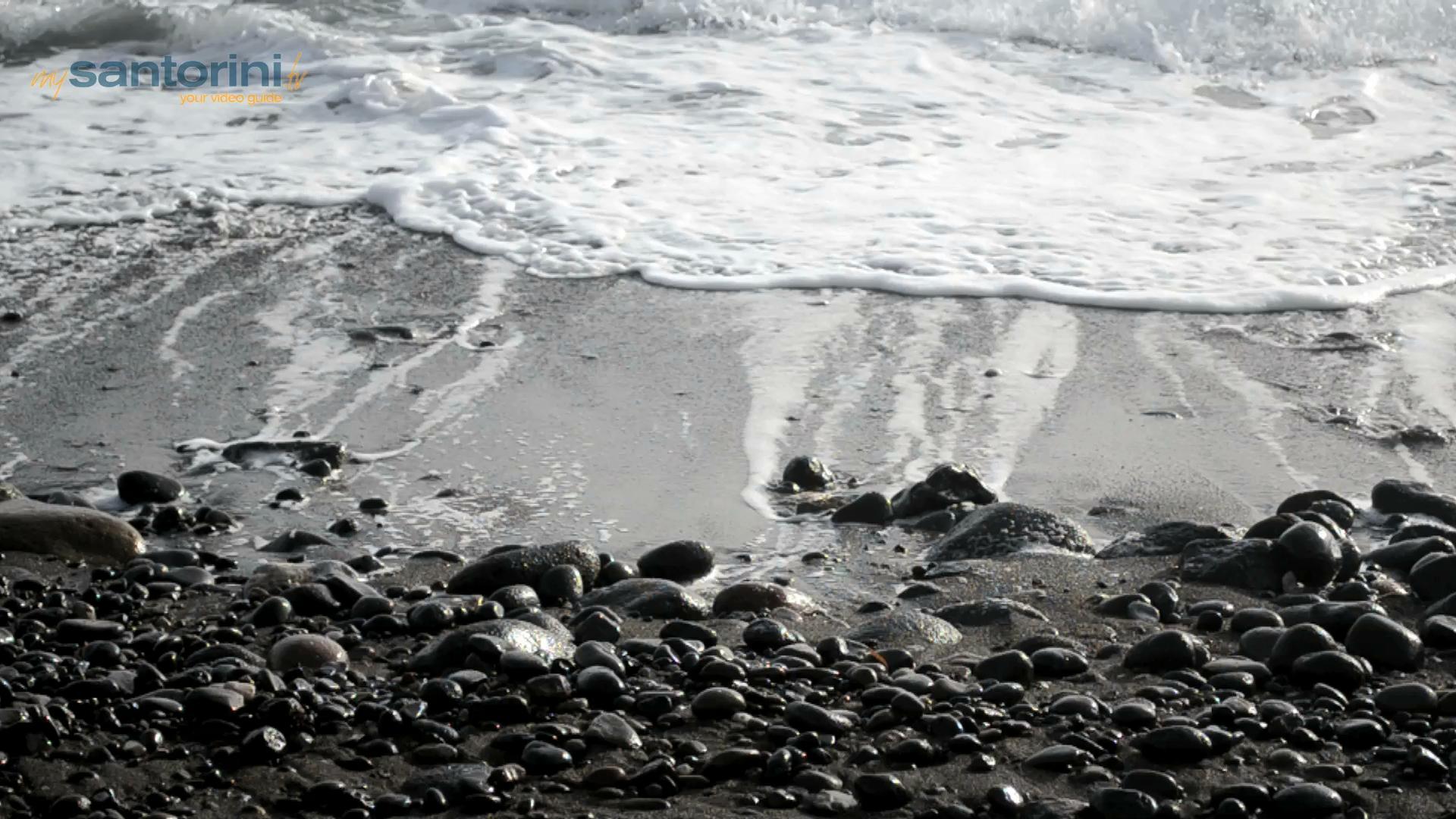 2 Unique Beaches of Santorini Island with lunar landscape