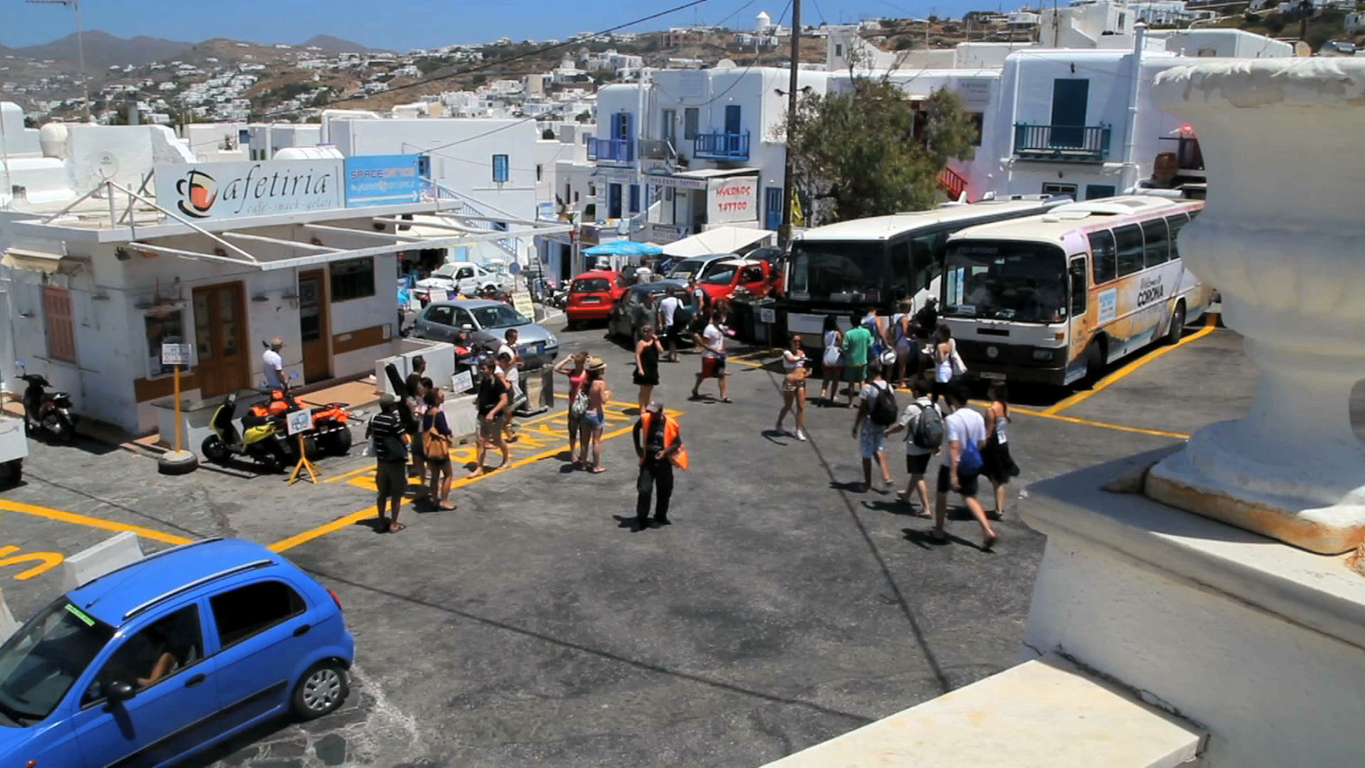 Getting Around Mykonos With The Bus