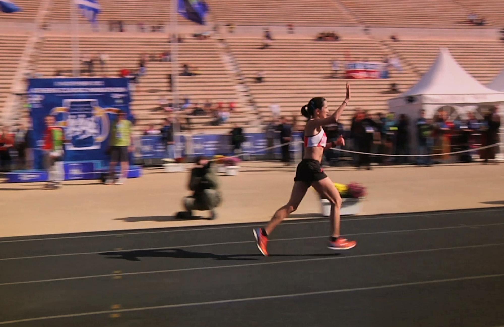 Athens Authentic Marathon:  The Finish Line