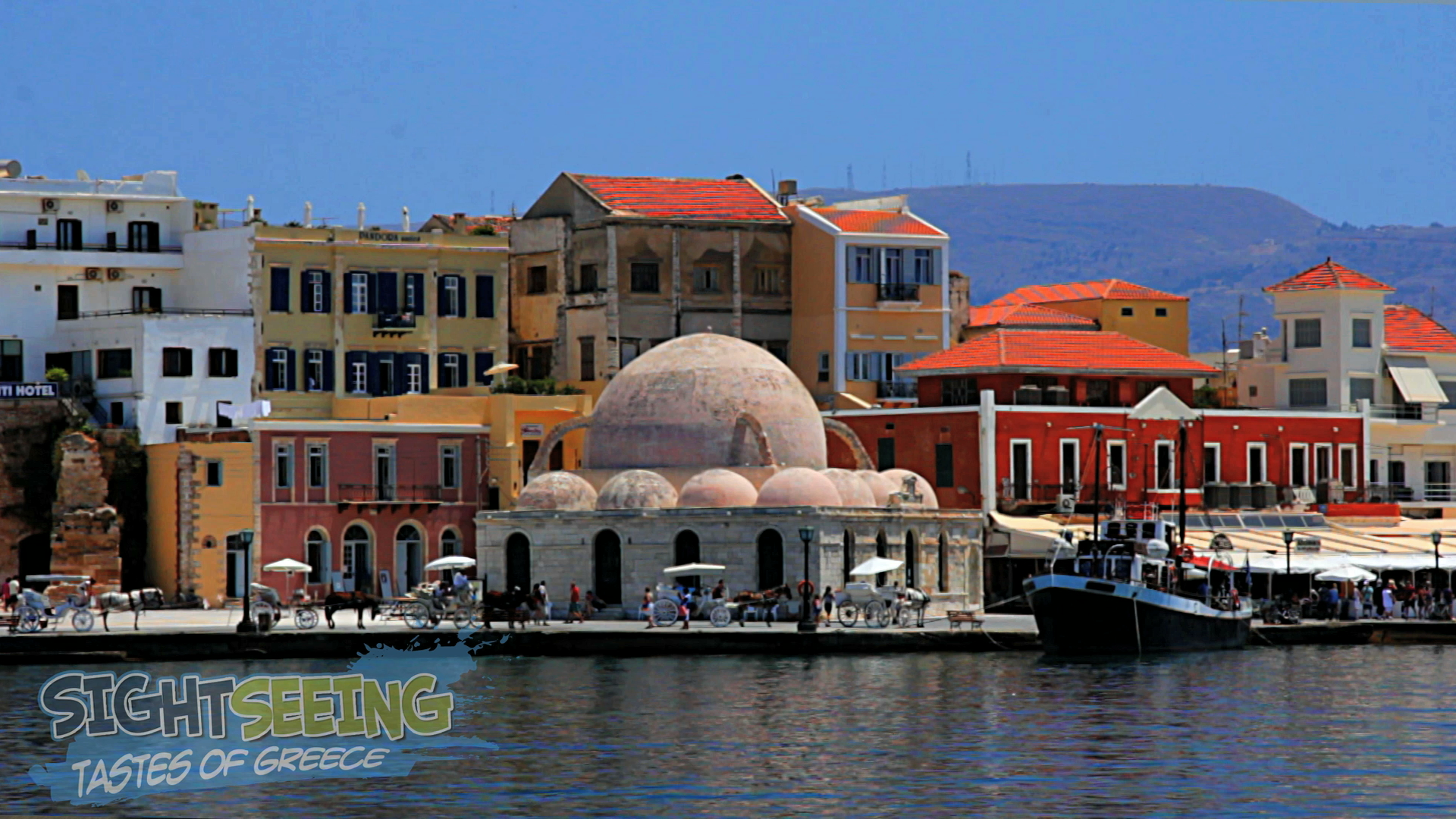 Walking around in Old Port of Chania
