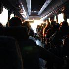 taking the bus santorini