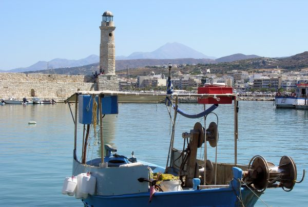 crete old port of rethymnon