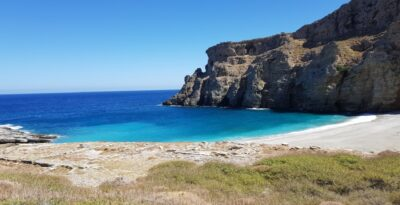 Evia: a secret beach with white sand