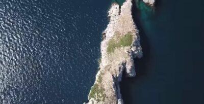 An island off the coast of Marathon where 96 shipwrecks found refuge