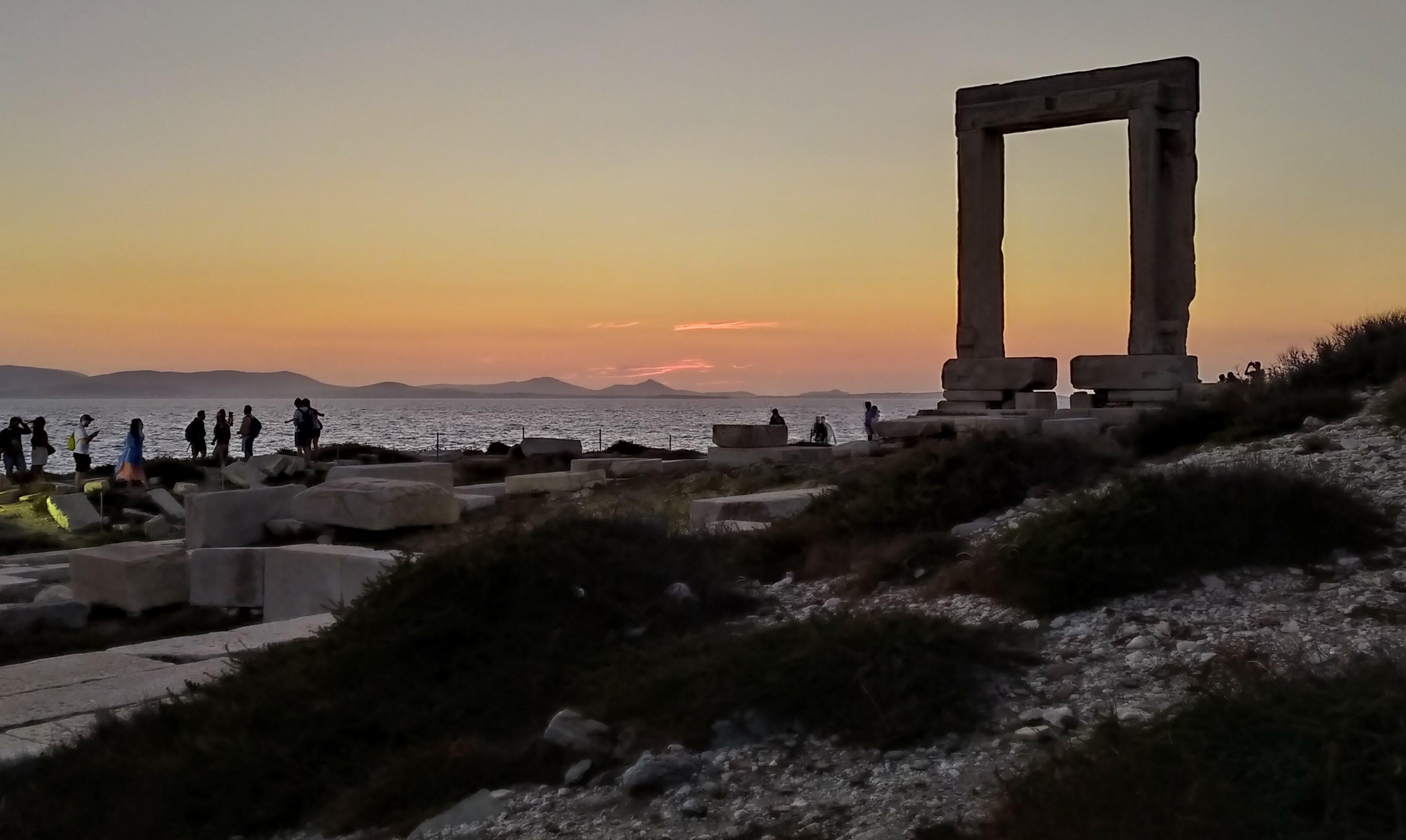 The Portara, or Big Door, greets you at Naxos