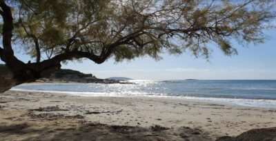 Kiteza: the beach in Attica with shallow and clear water
