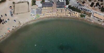 Loubarda, the breezy, shallow beach near Athens