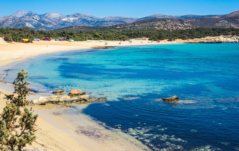 Naxos' cedar-forest beach
