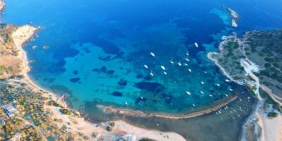 The beaches of Attica with turquoise waters