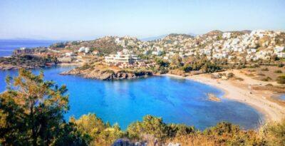 Tree-shaded beaches of Attica