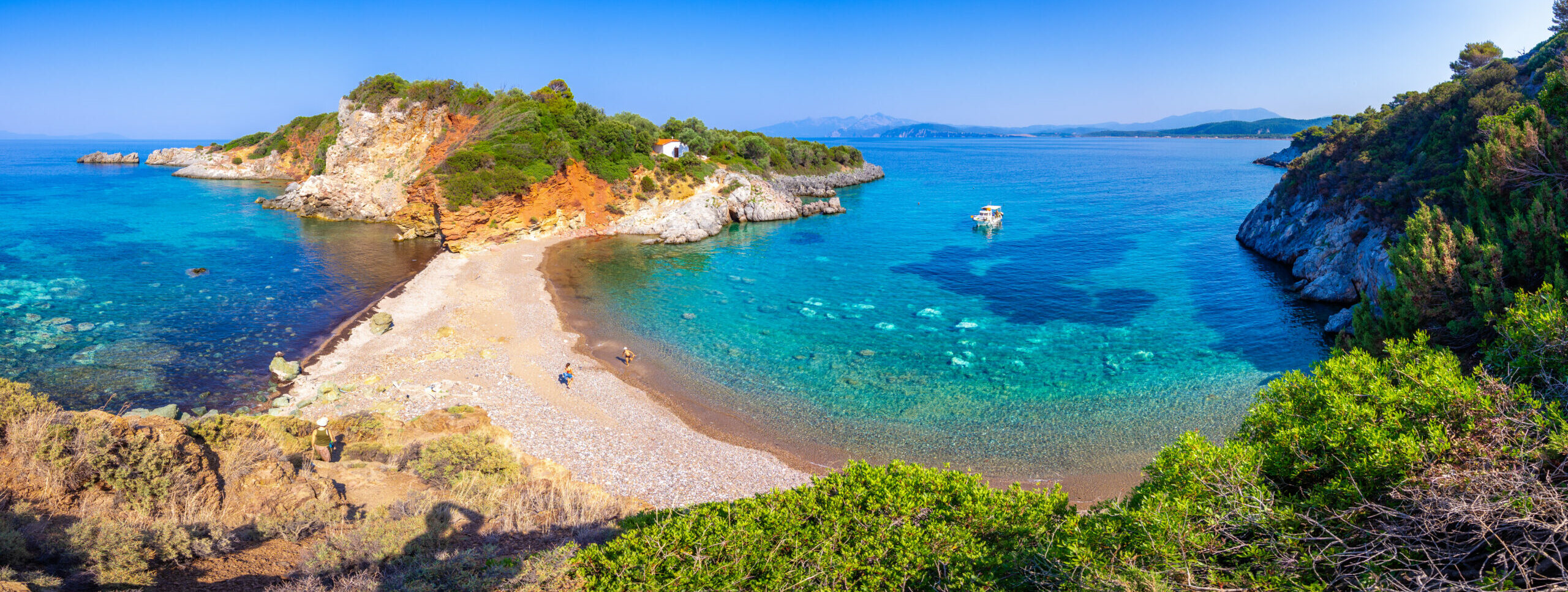 The twin beach of lovers in Evia