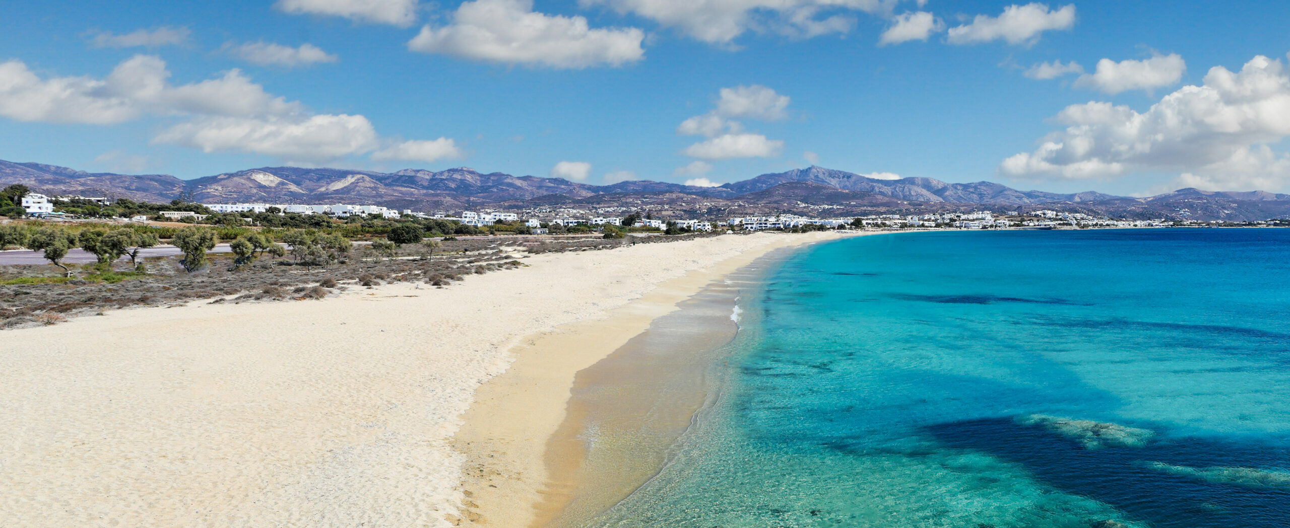 Agios Prokopios: The most famous and largest beach of Naxos
