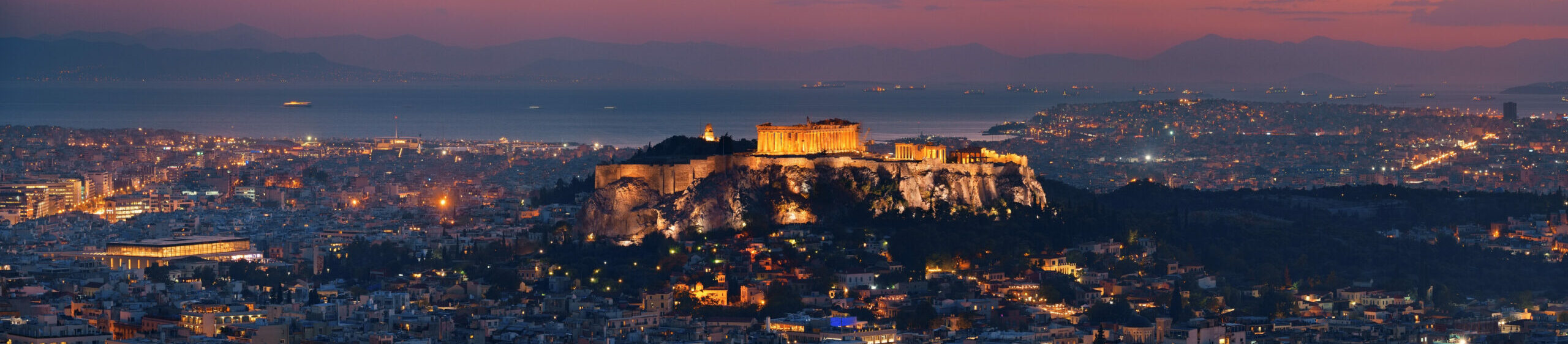 Photographing Athens during a night walk