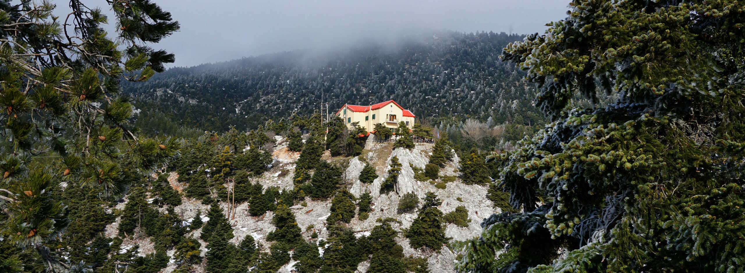 Attica: The Flambouri shelter on Mount Parnitha