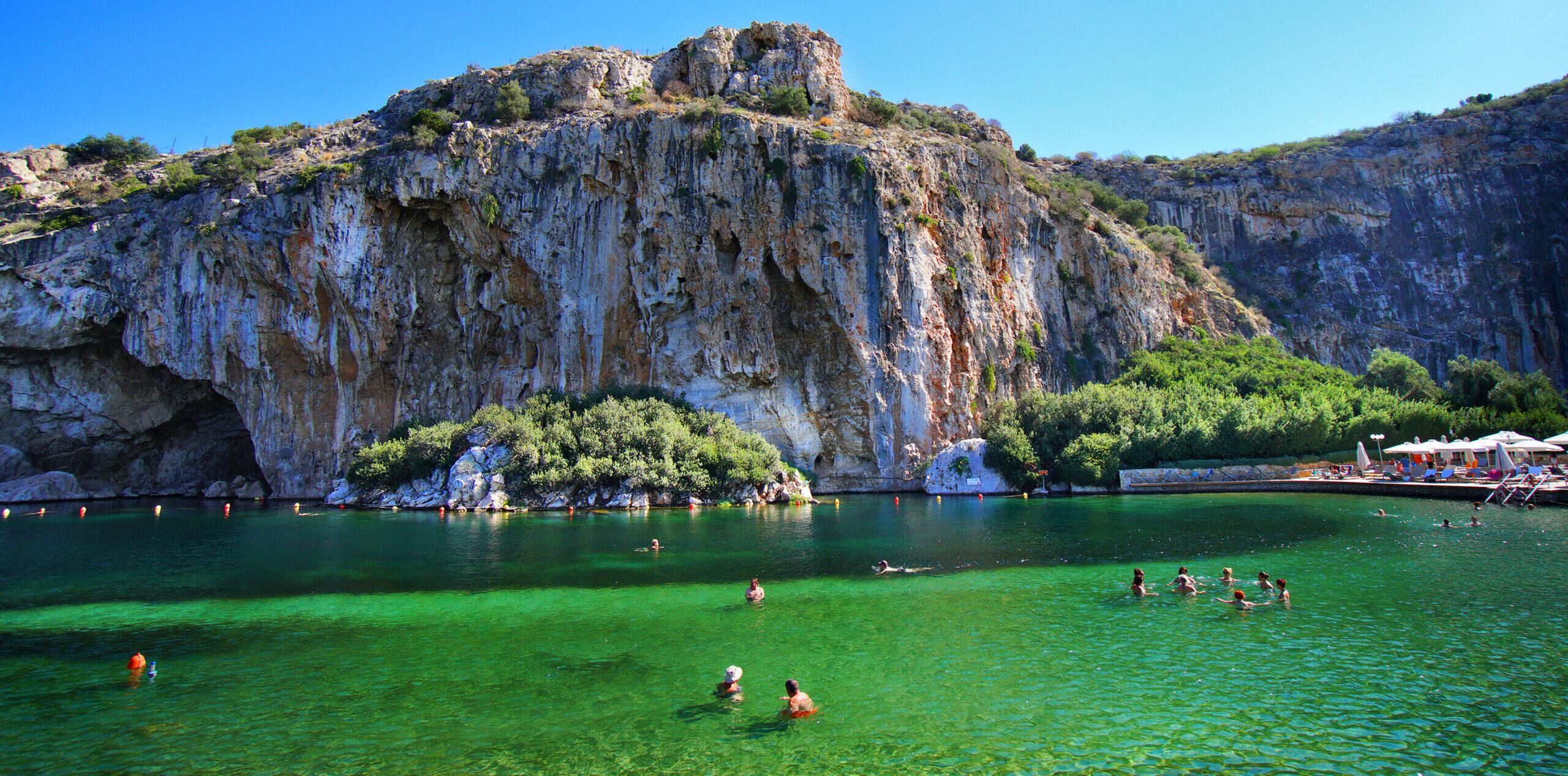 Attica: hot winter dips in Vouliagmeni lagoon