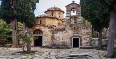 Attica: Caesariani Monastery, one of the most beautiful byzantine temple
