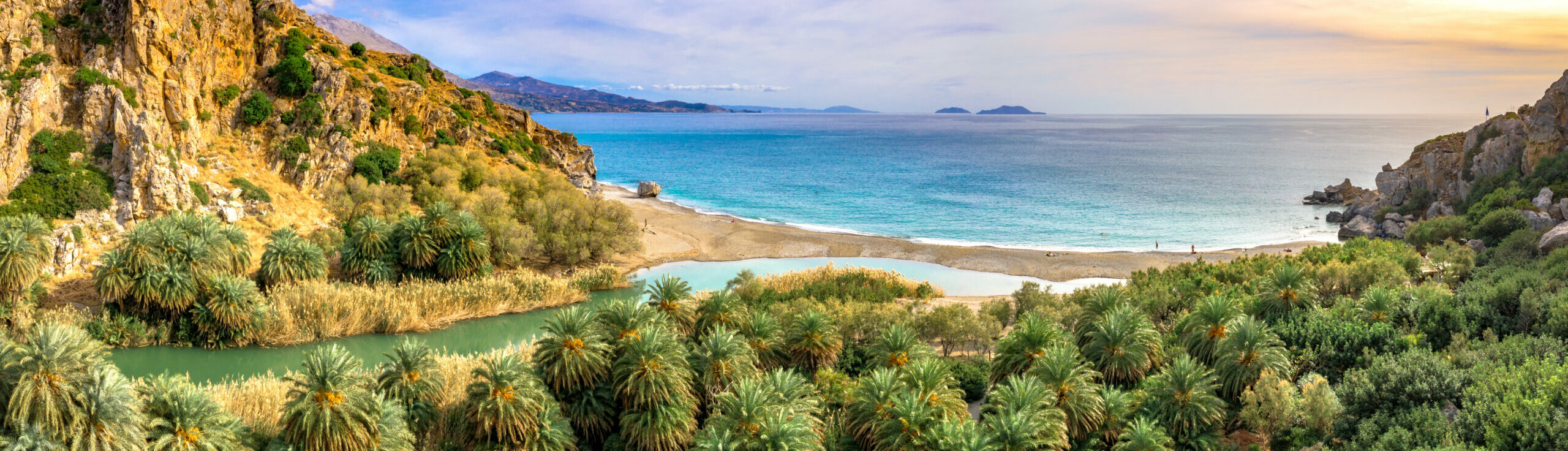 The Greek beach that looks like an African oasis
