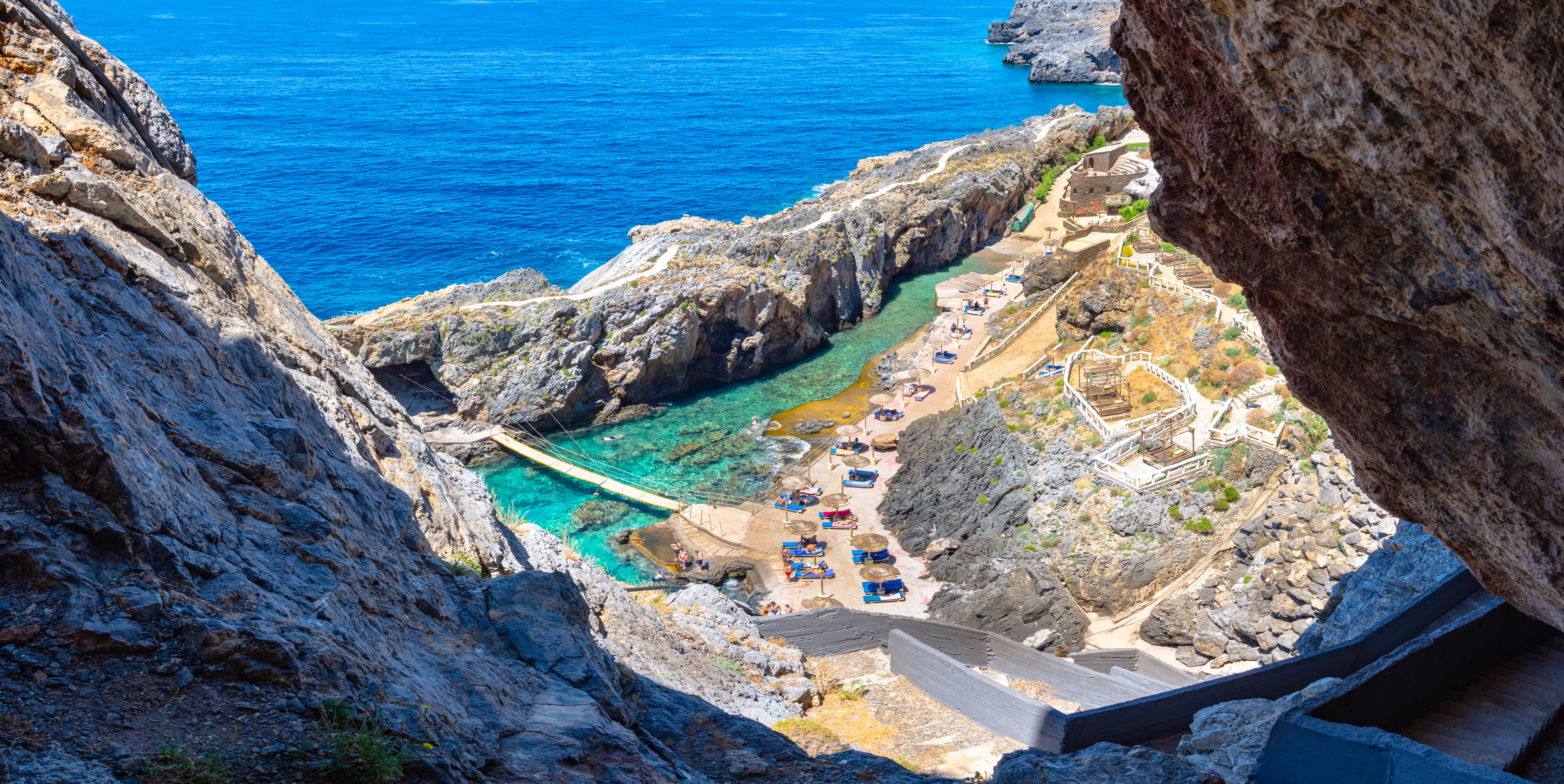 """Crete: The fjord that """"enchanted"""" Odysseus who stayed there for 7 years"""