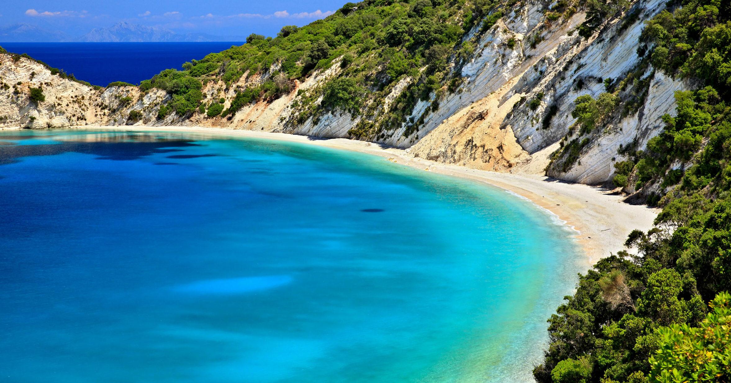 Ionian Islands: Ithaca, Gidaki – The blue beach that looks like paradise