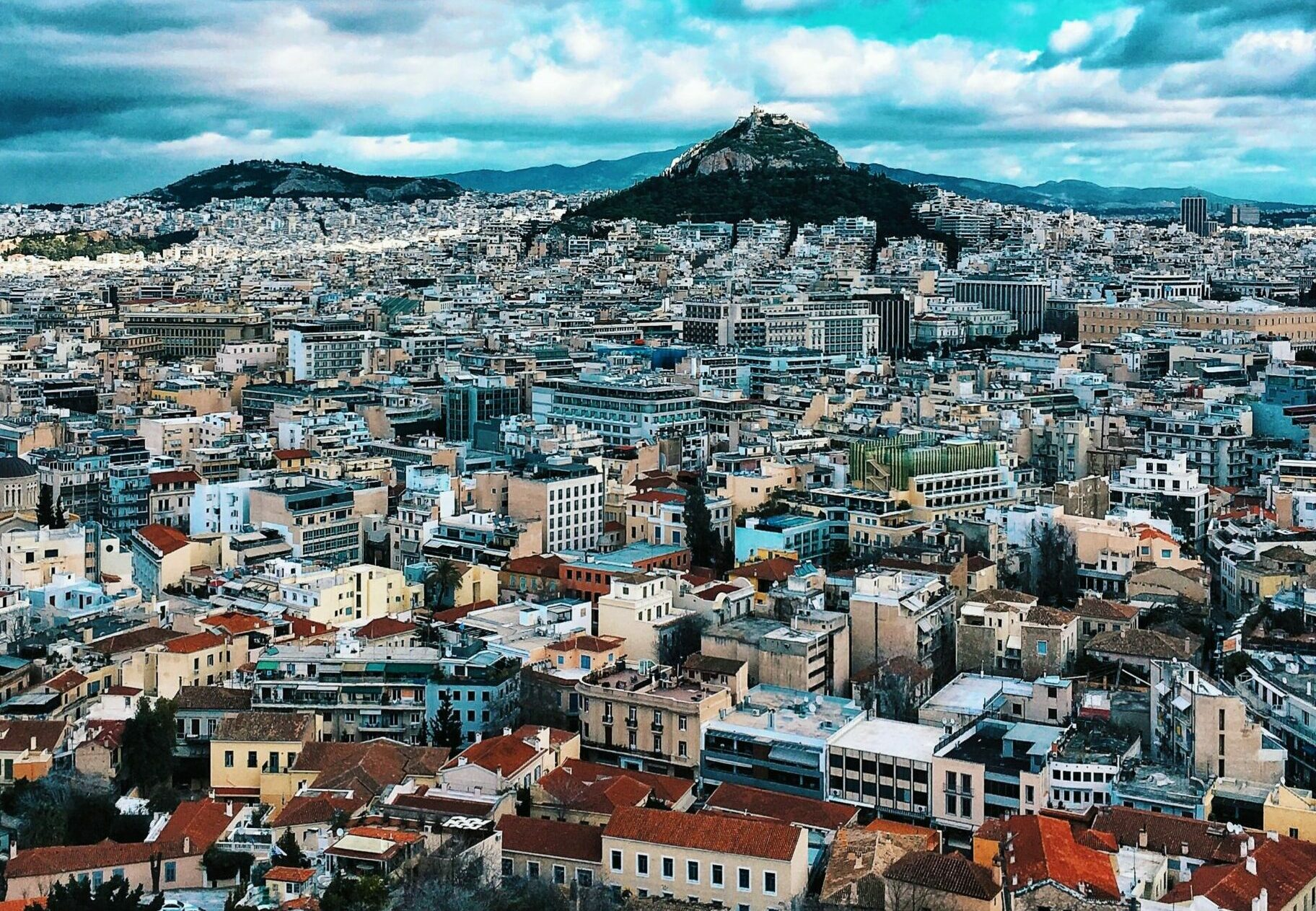 """Attica: Hymettus, the most historic mountain of Athens, they called it """" the crazy one"""""""
