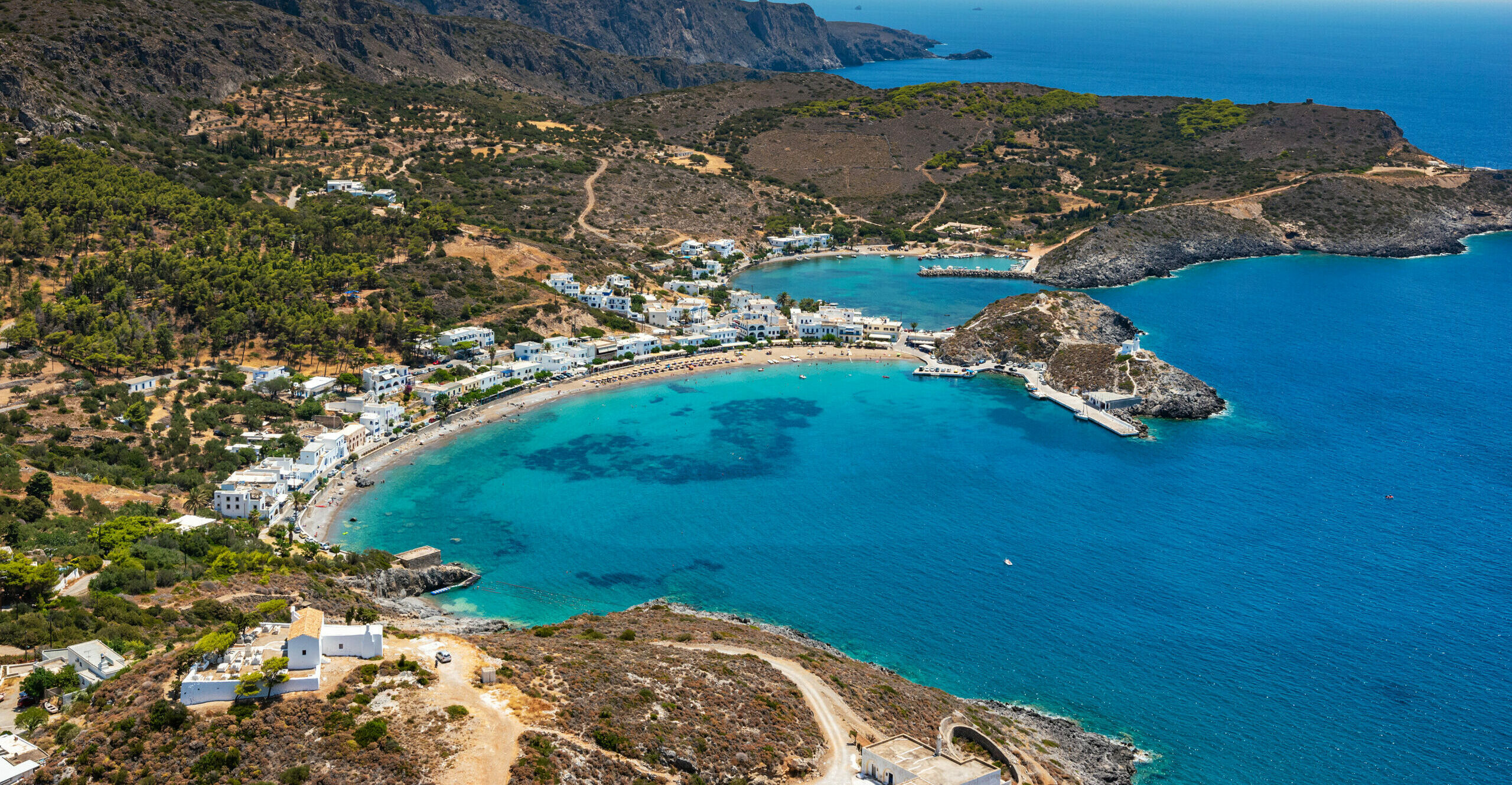 "Kapsali: The beautiful beach ""omega"" in the Ionian Sea"