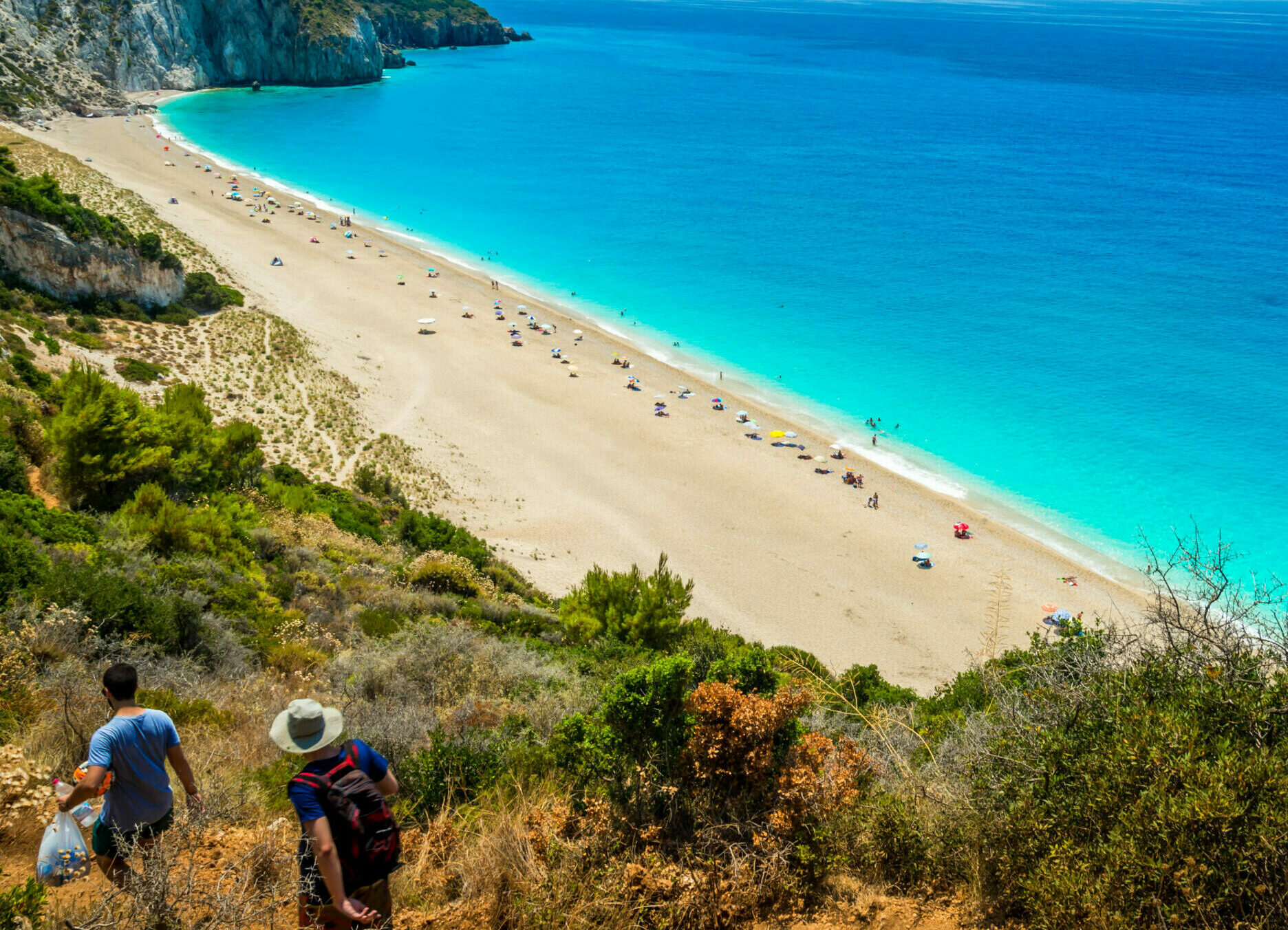 Levkas:  Hawaii-like Milos beach