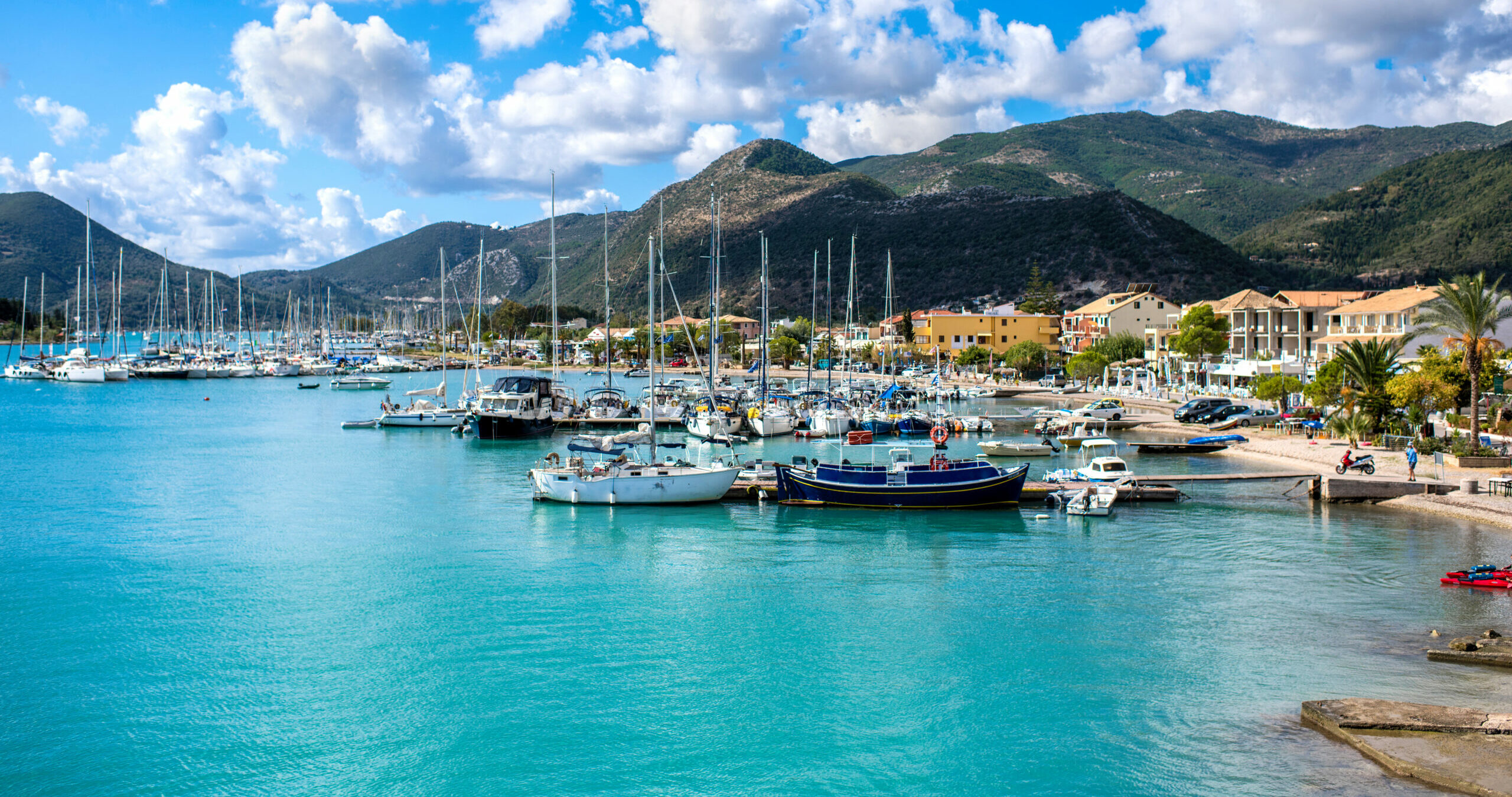 Lefkada: Nidri, Onassis' favorite fishing village.