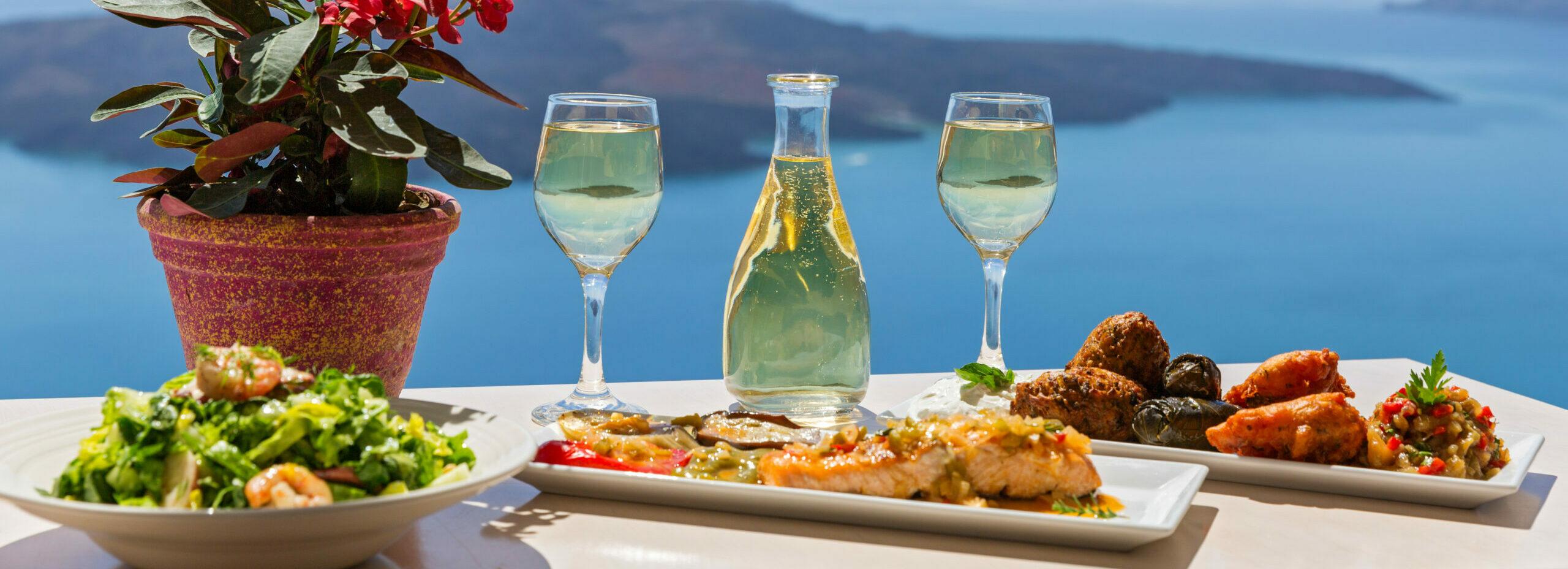 Gastronomic trip to Santorini with tomato meatballs and boussés