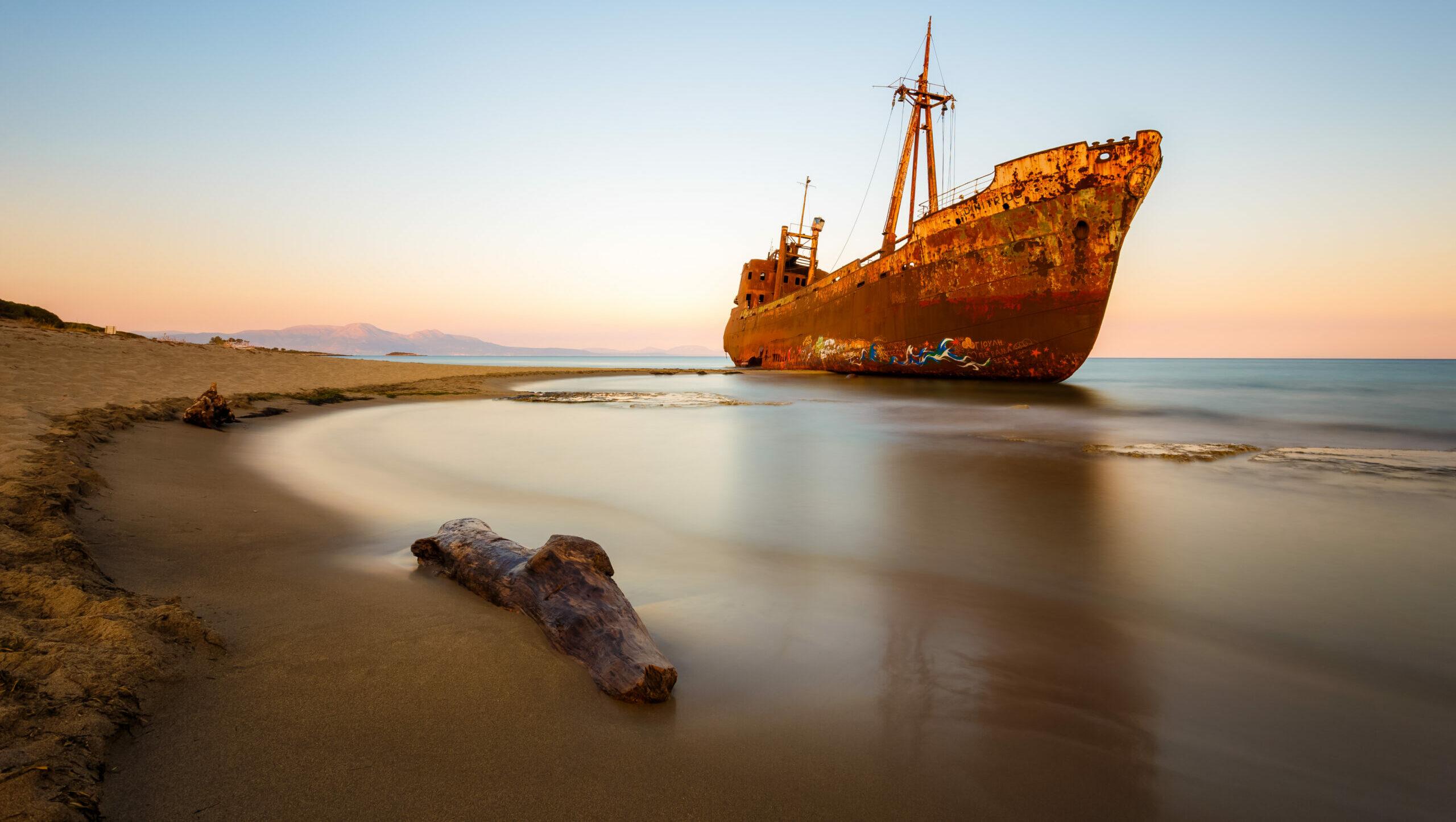 Gythio: Shipwreck Dimitrios, the ghost ship that enchants you