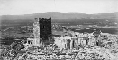 There was once this big tower on the Acropolis