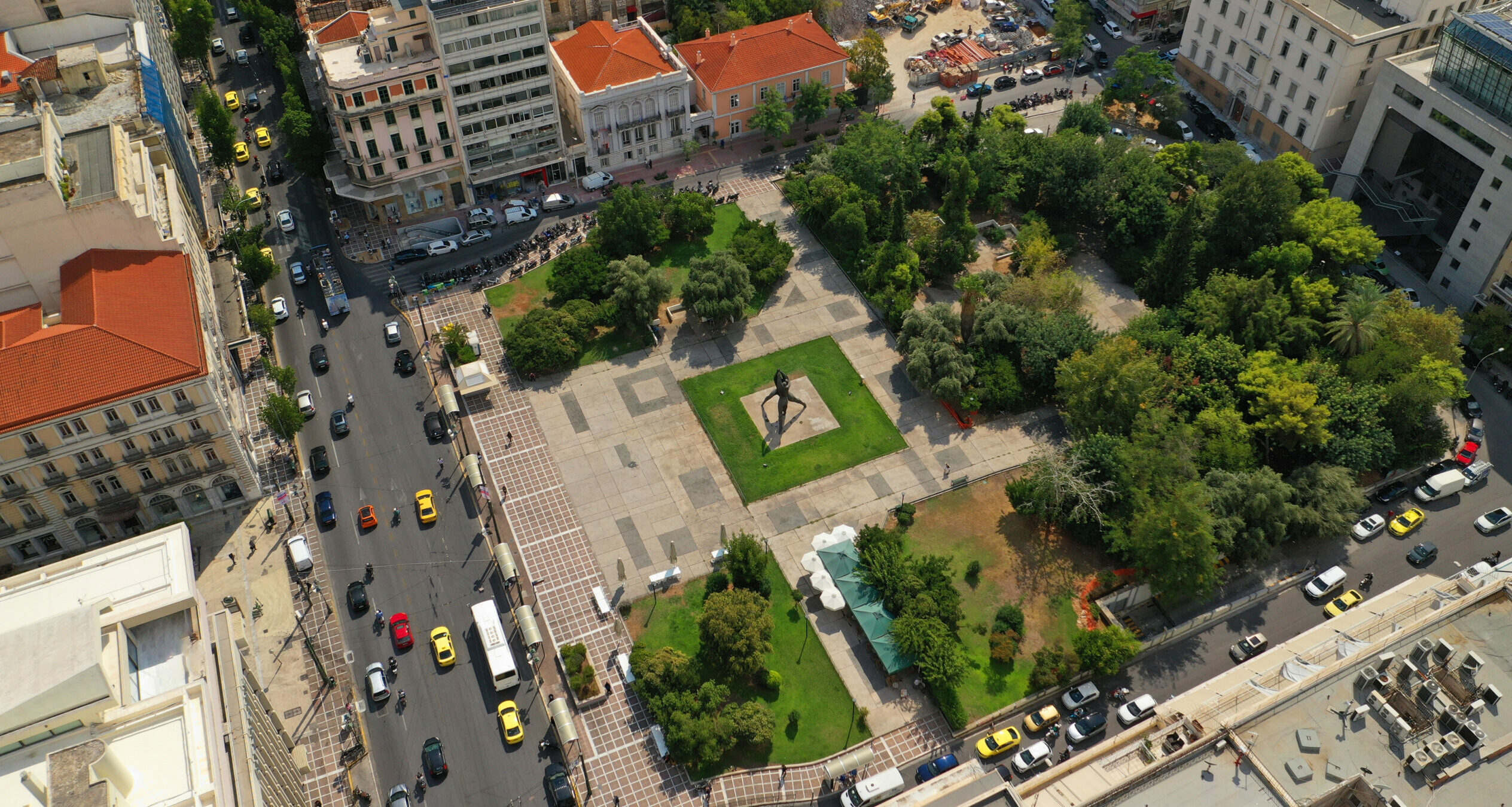 The large squares of Athens and how they got their names
