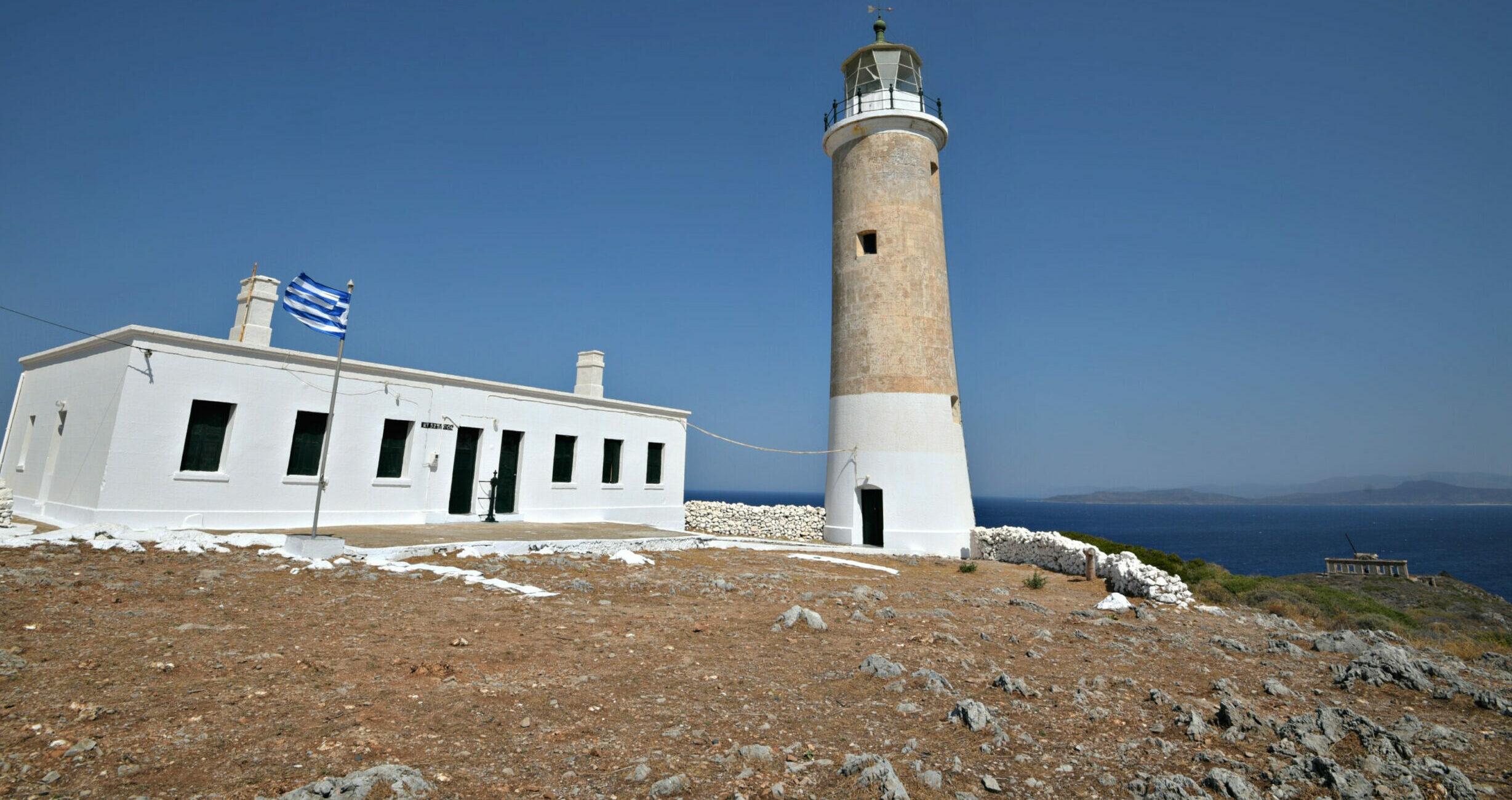 Kythera: The impressive Lighthouse of Moudariou and the idyllic sunset